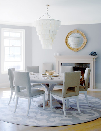Dining Room With Round Table And Turkish Rug Amazing Pin By Ruby ...