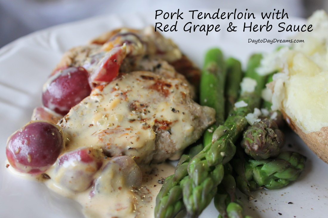Pork Tenderloin with Red Grape 7 Herb Sauce