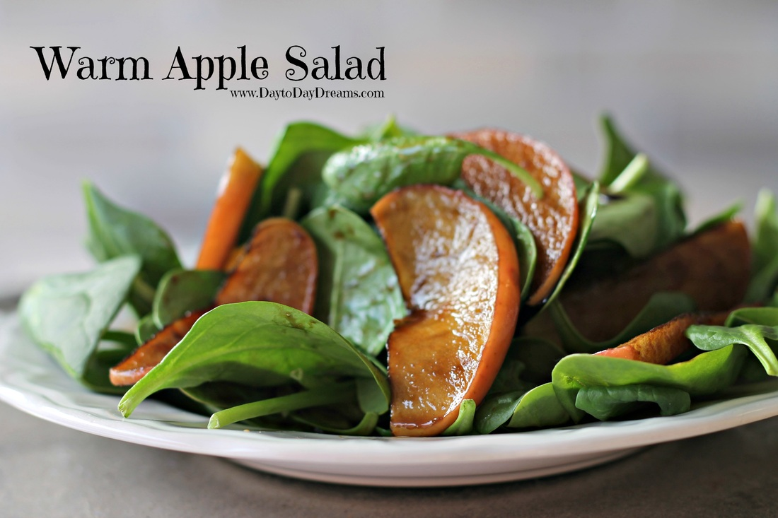 Warm Apple Salad www.DaytoDayDreams.com