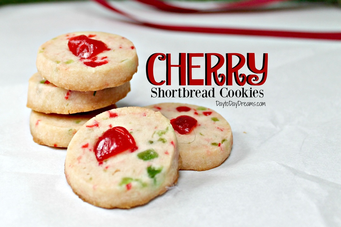 Cherry Shortbread Cookies