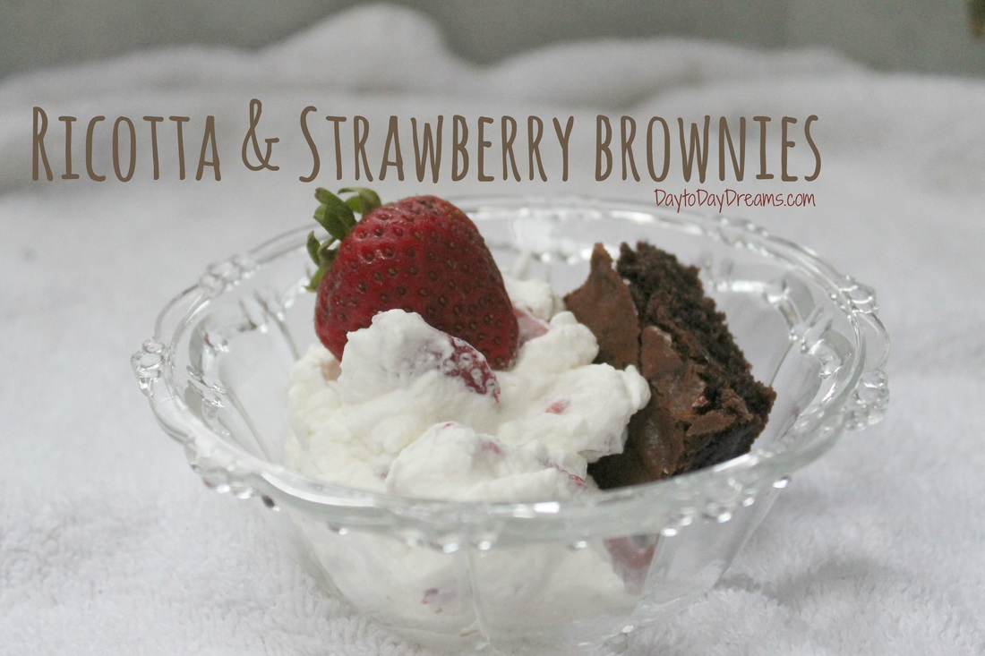 Ricotta & Strawberry Brownies