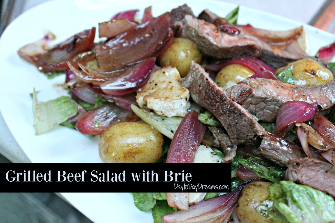 Grilled Beef Salad with Brie