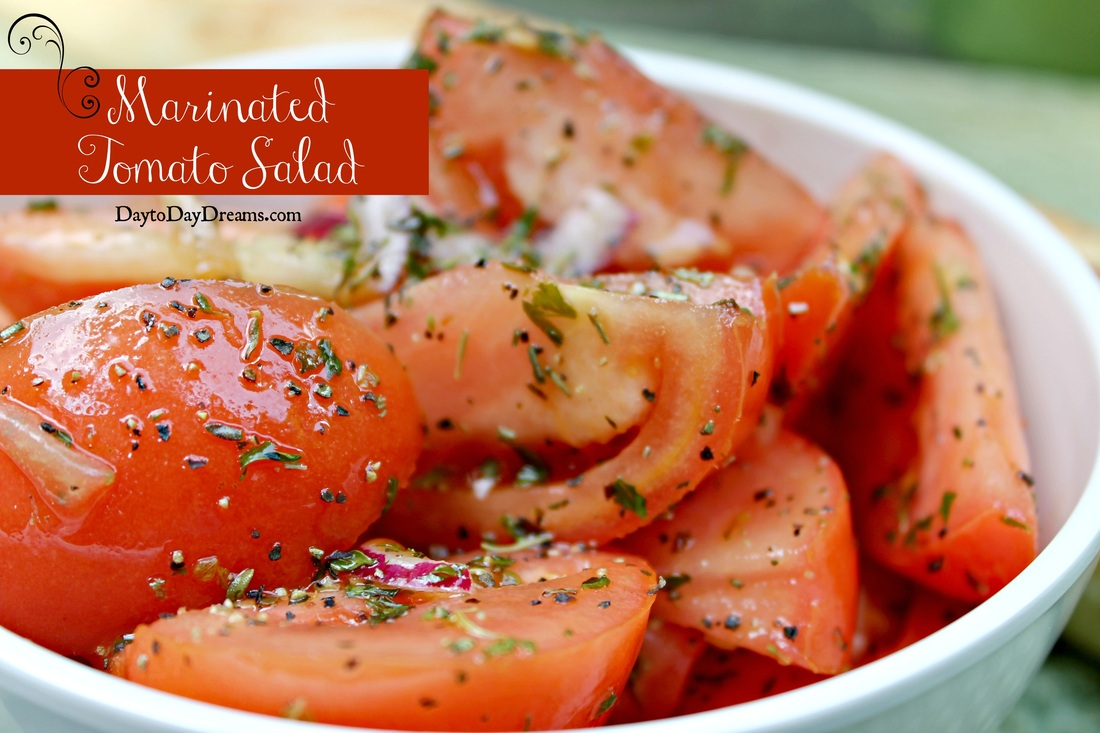 Marintaed tomato salad