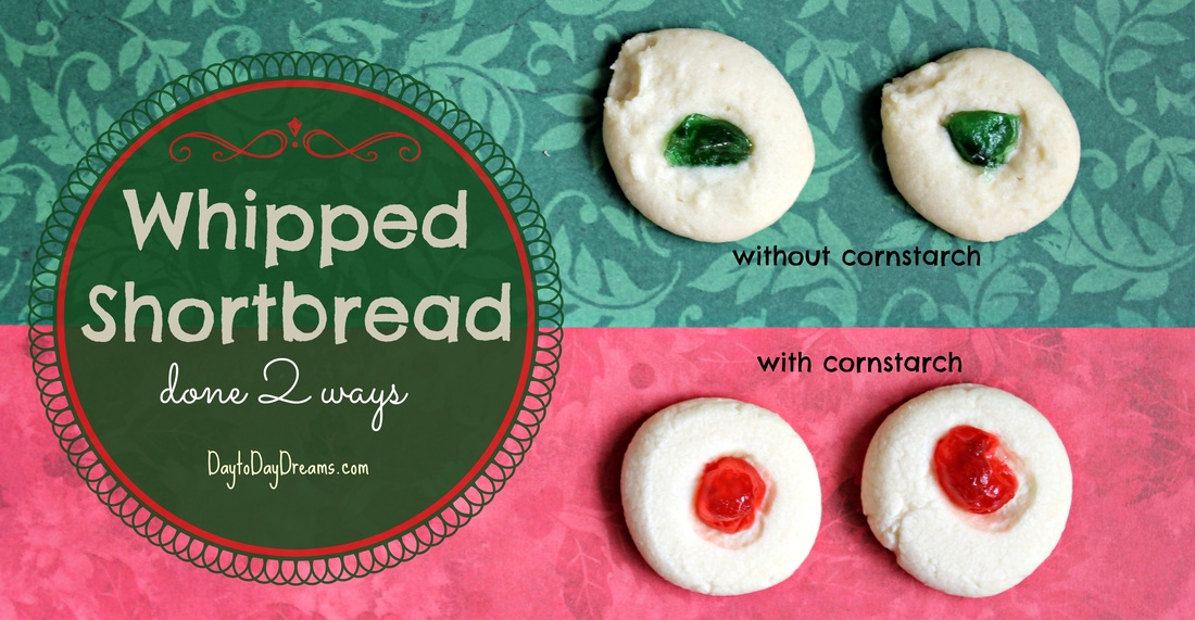 Whipped Shortbread Cookies done 2 ways