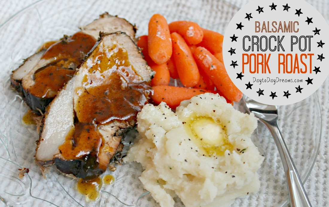 Balsamic Crock Pot Pork Roast - AMAZING!