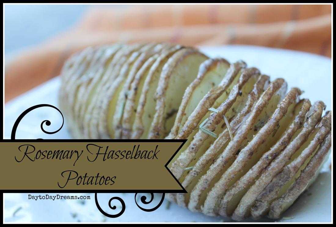 Hasselback Potatoes DaytoDayDreams.com
