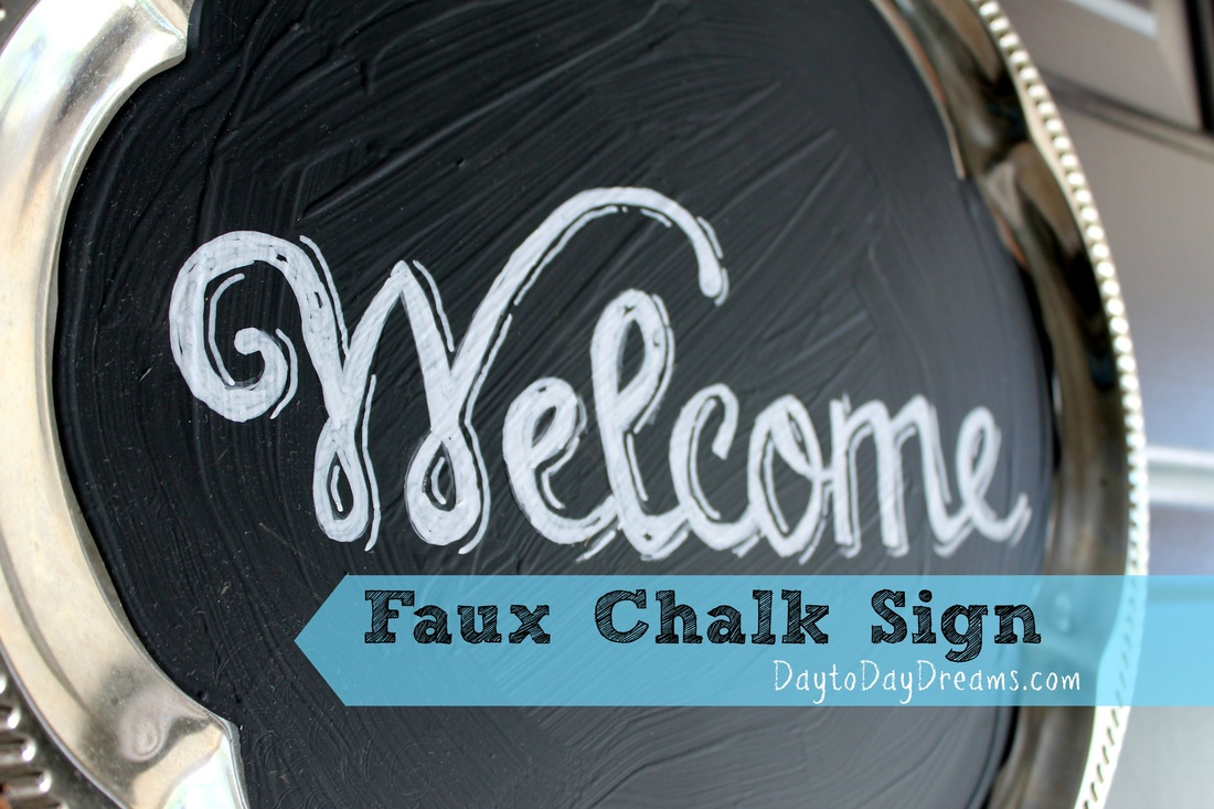 Faux Chalk Welcome Sign