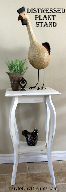 Painted Plant Stand DaytoDayDreams.com