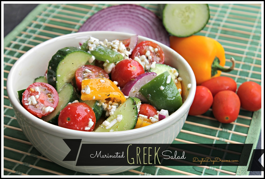 Marinated Greek Salad - DaytoDayDreams.com