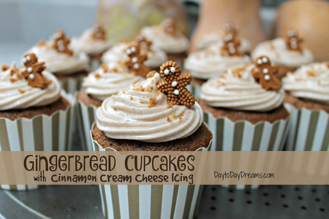 Gingerbread Cupcakes with Cream Cheese icing