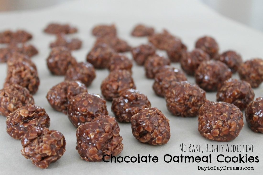 No Bake, Highly Addictive Chocolate Oatmeal Cookies