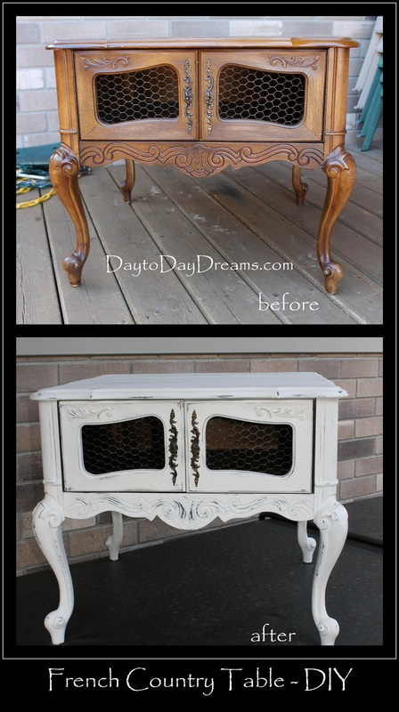 French Country Table - DIY DaytoDayDreams.com