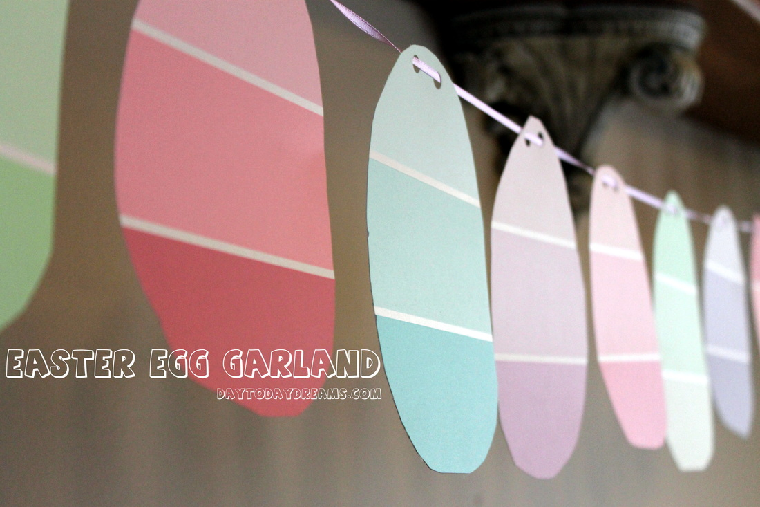 Easter Egga Paint Chip Garland  DaytoDayDreams.com