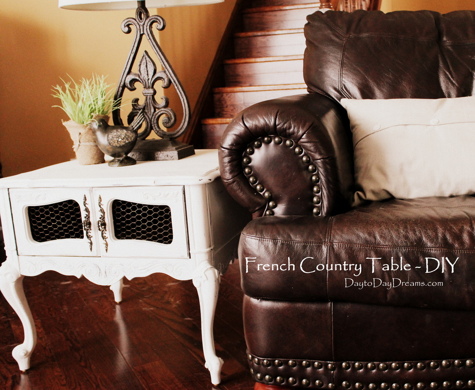 French Country Table DIY DaytoDayDreams.com