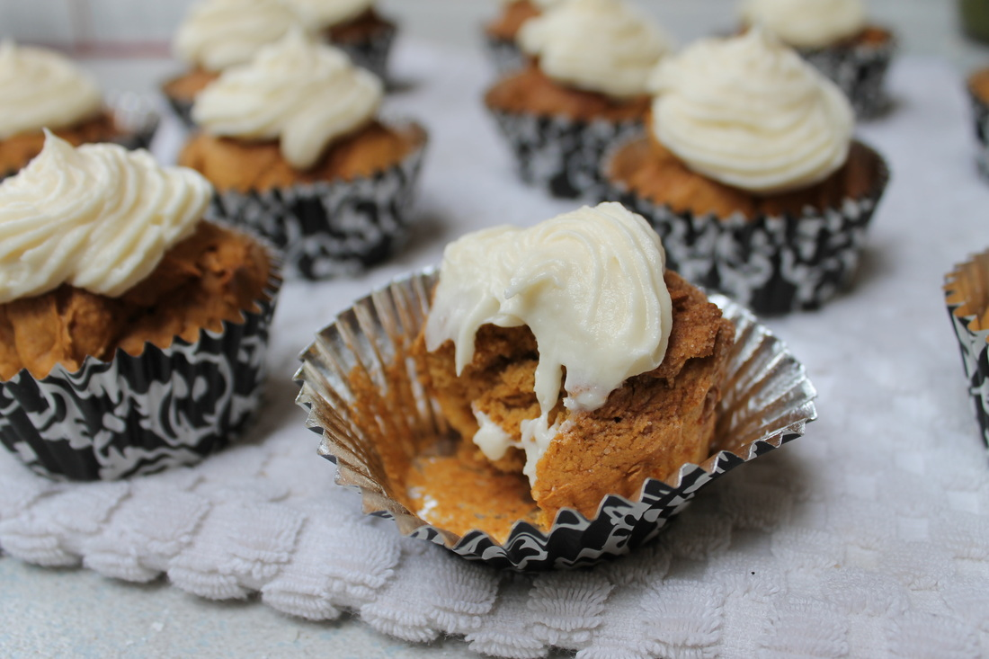 Pumpkin Spice Muffin with Cream Cheese icing