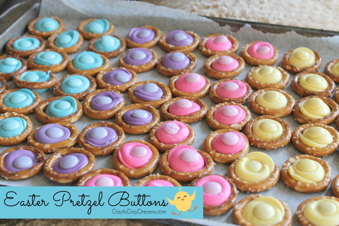 Easter Pretzel Buttons