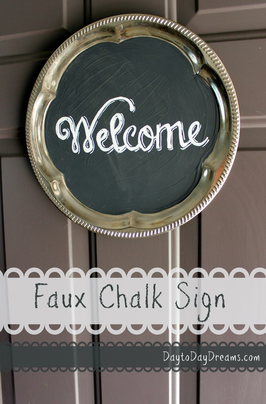 Faux Chalk Sign DaytoDayDreams.com
