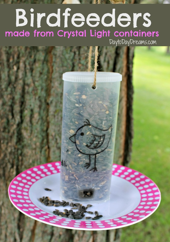 Recycled Chrystal Light Bird Feeders