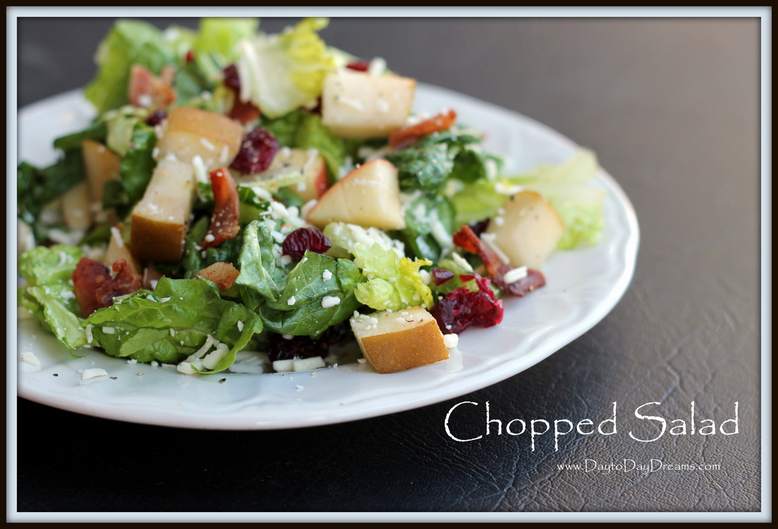 Chopped Salad  www.DaytoDayDreams.com