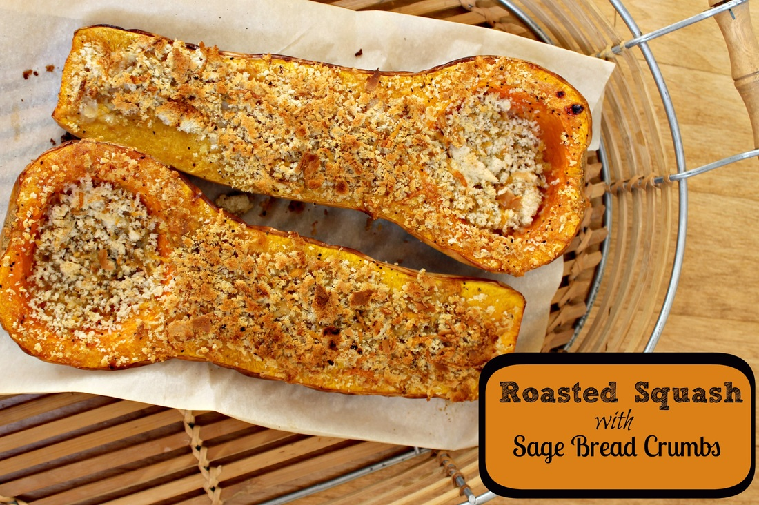 Roasted Butternut Squash with Sage Bread Crumbs - DaytoDayDreams.com