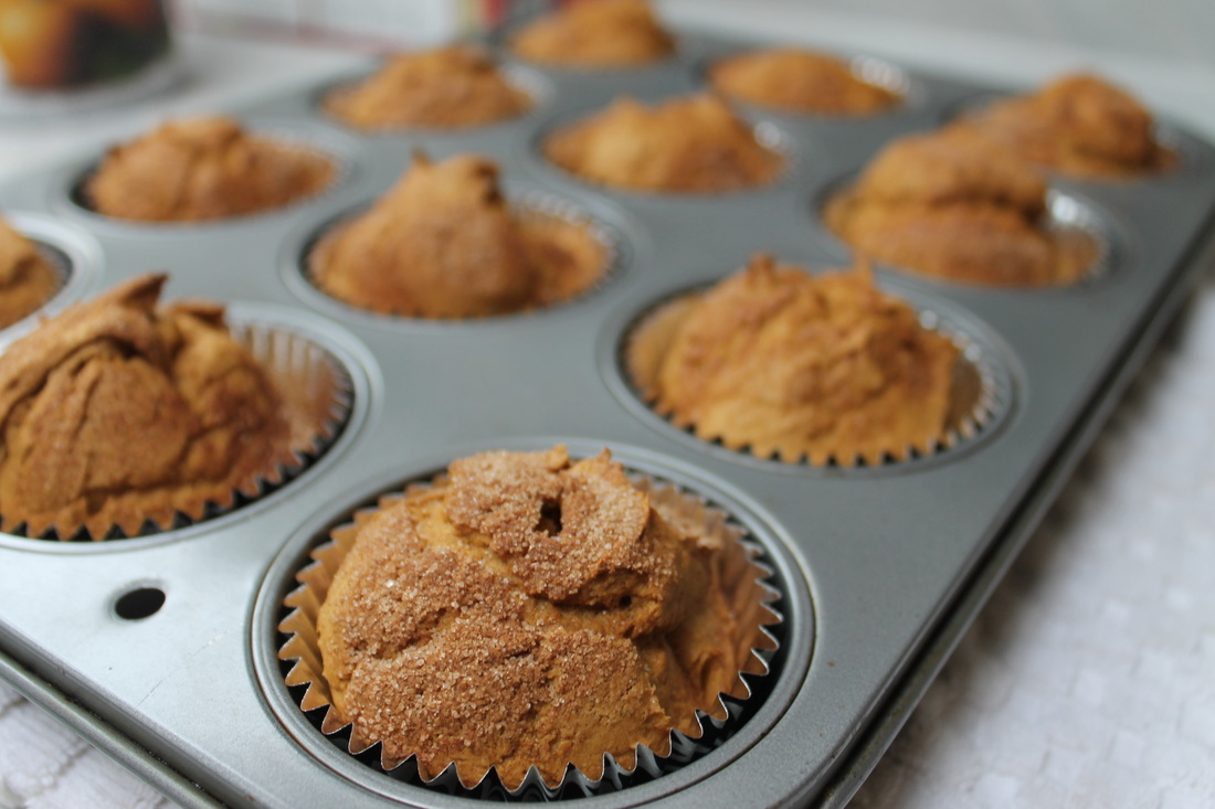 Pumpkin Spice Muffins with Cream Cheese Icing