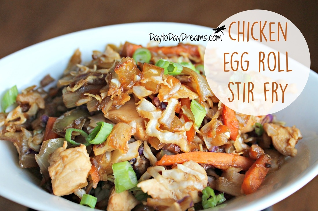 Chicken Egg Roll Stir Fry